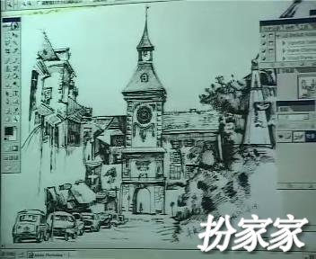 ②杨健手绘图 钢笔室内手绘