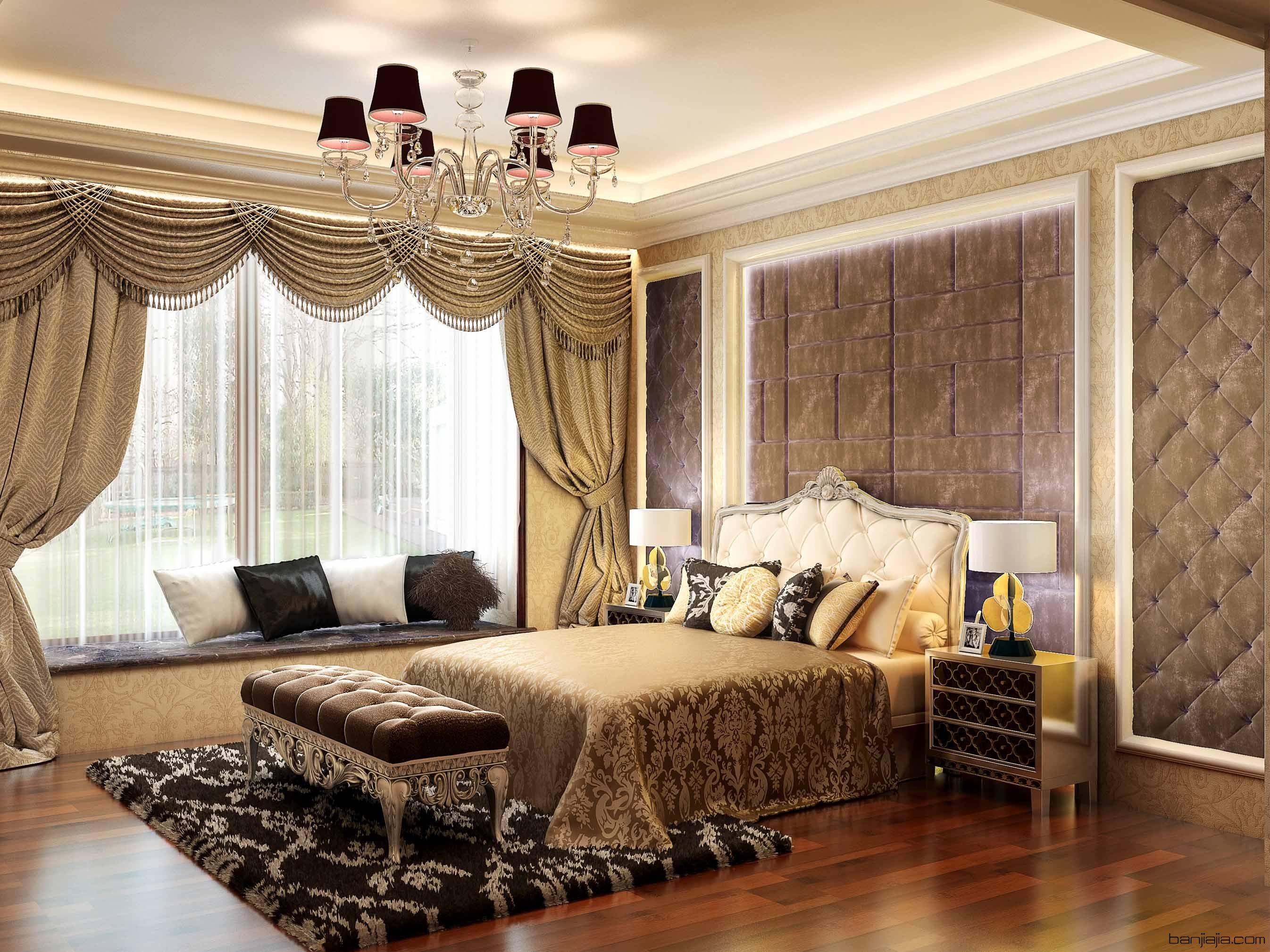 欧式卧室   3dmax2009  vr2.0  附材质灯光
