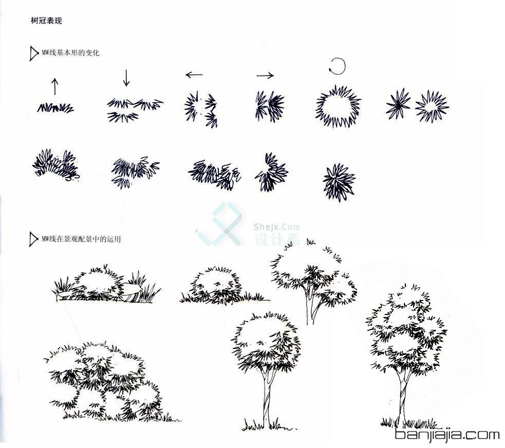 设计素描单体素材
