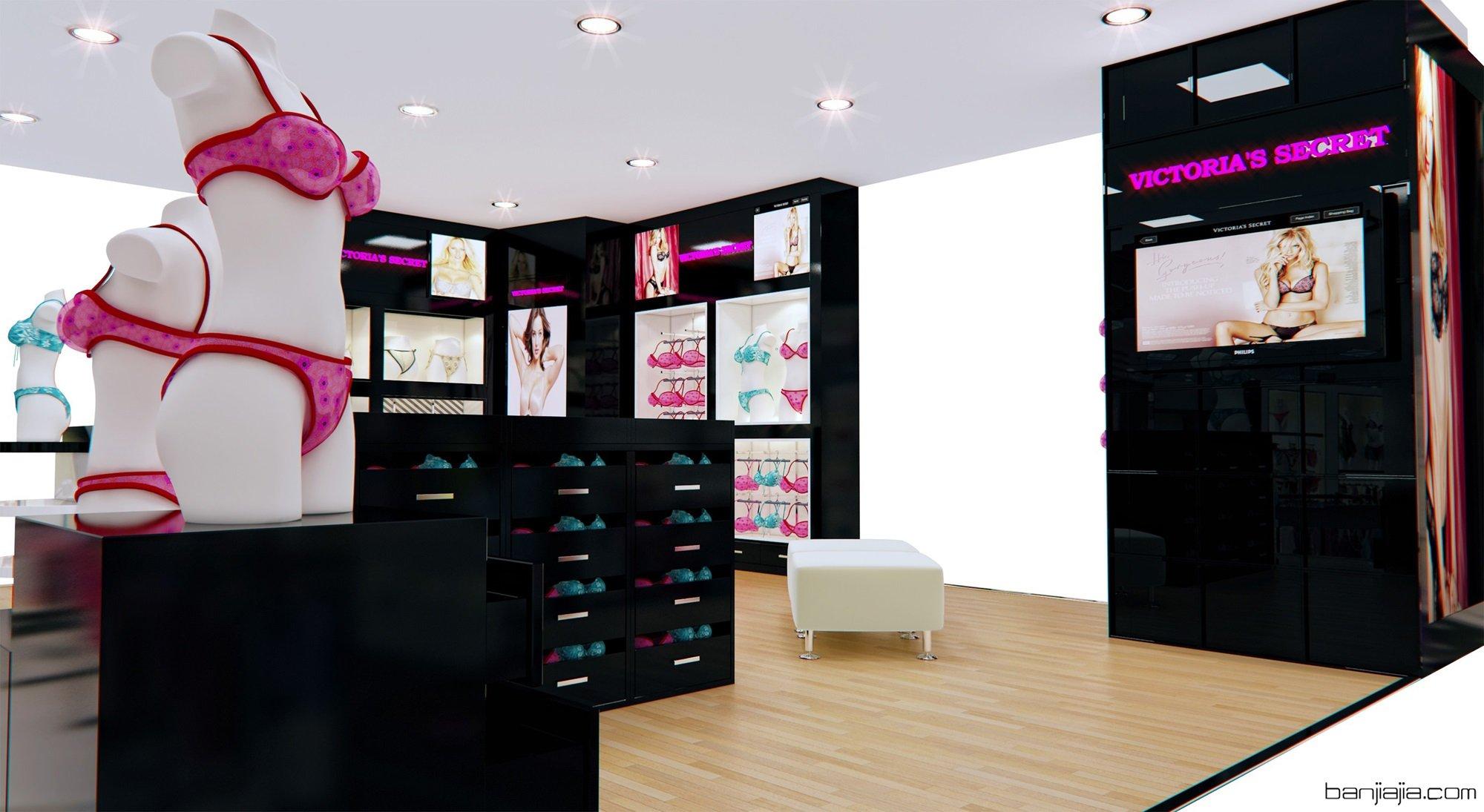内衣店效果图 - 扮家家室内设计网