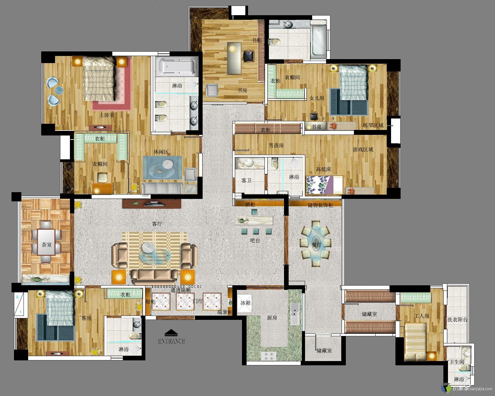 【投票】【第二期 住宅平面优化】 300平方豪华户型
