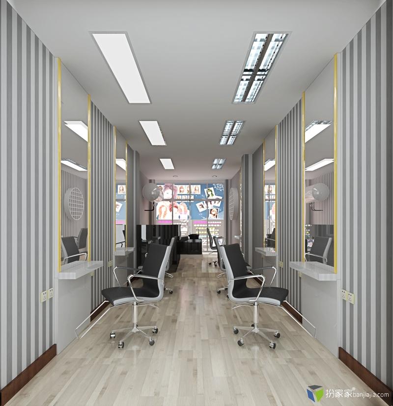 原创一个22平方个性理发店- - 扮家家室内设计网