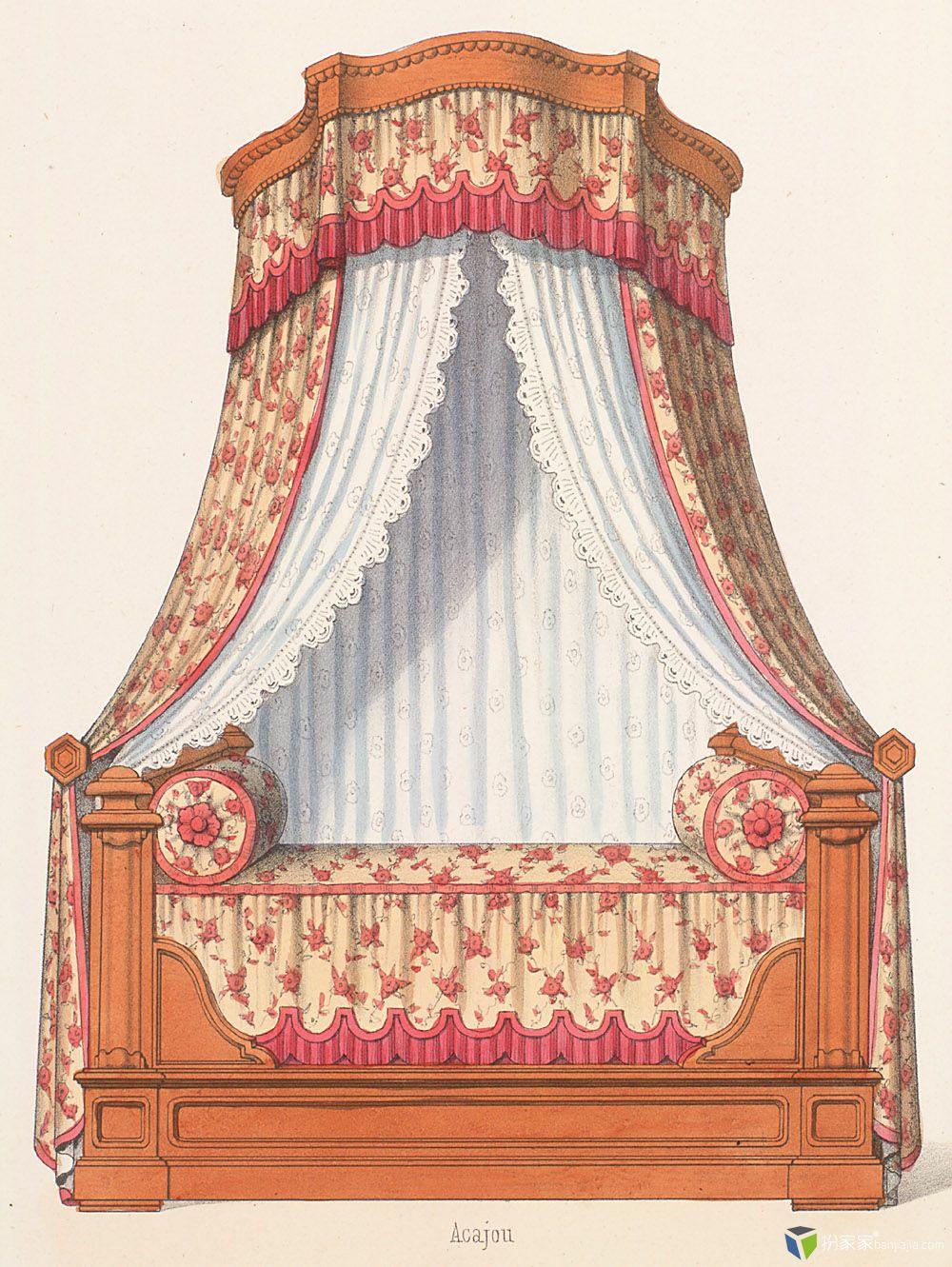 欧式古典家具手绘彩图~巴洛克与洛可可多风格家具~597