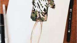 一组街拍的手绘手稿,腿长穿什么都好看