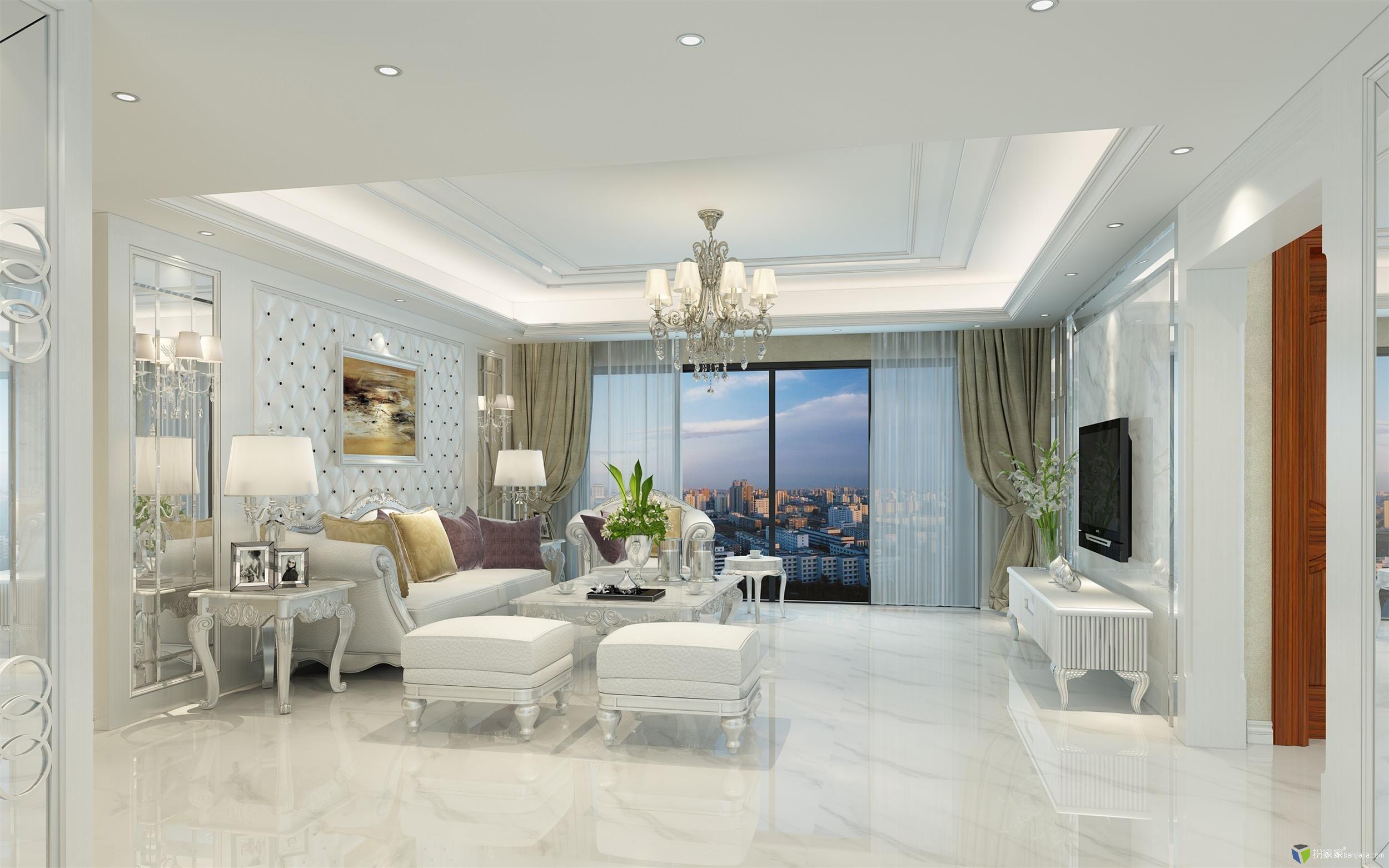 白色欧式 - 扮家家室内设计网