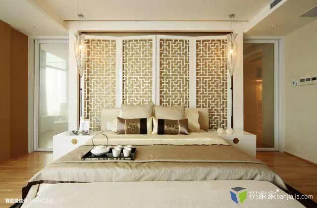 新中式屏风装饰隔断 - 扮家家室内设计网