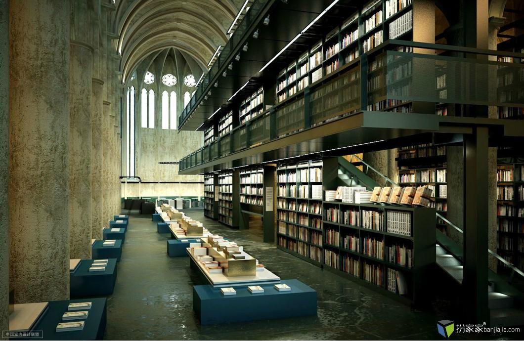 国外图书馆写实场景图片