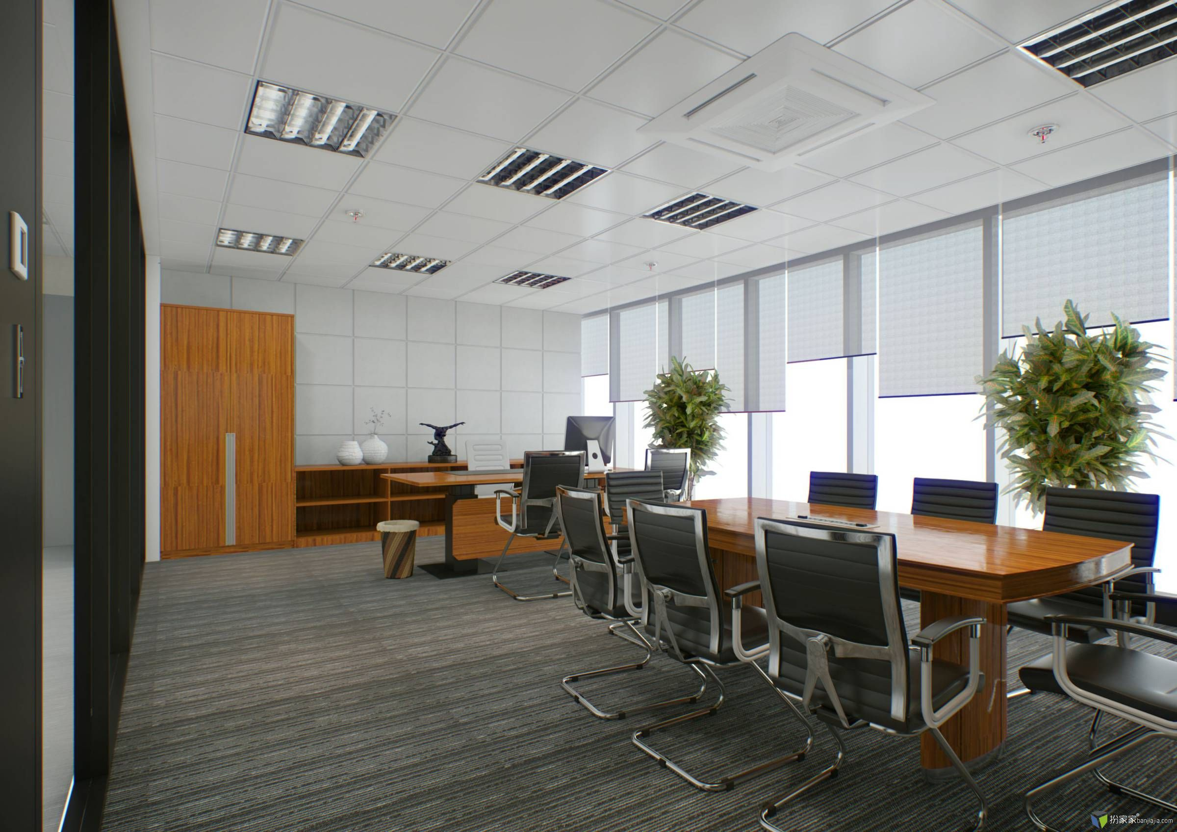 平安办公室装修-室内设计师平台 -室内设计论坛-扮家
