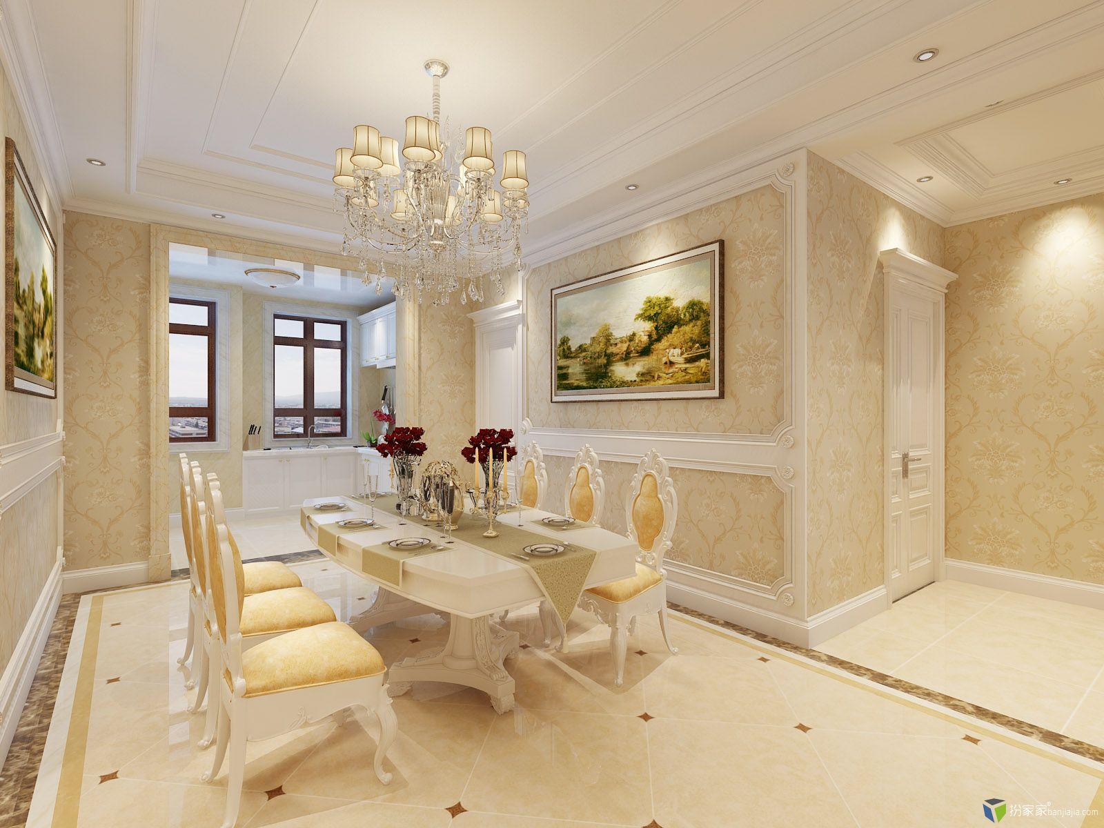 白欧一套 - 扮家家室内设计网
