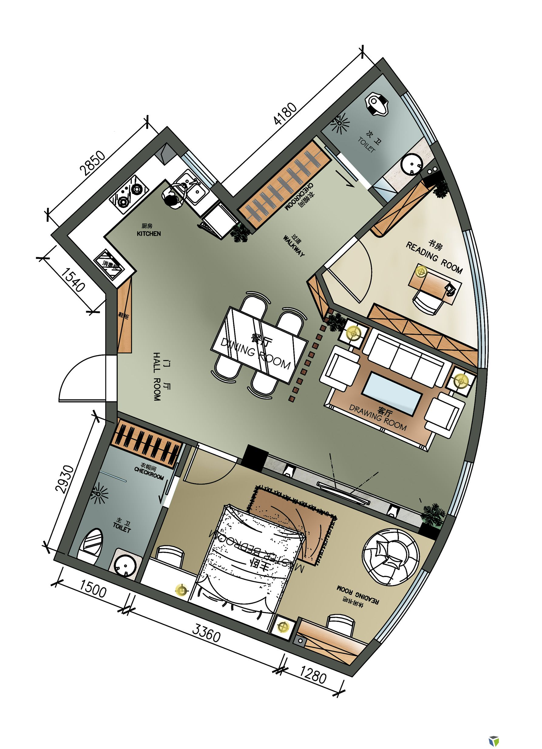 【投票】【第五期 住宅平面优化】 单身公寓