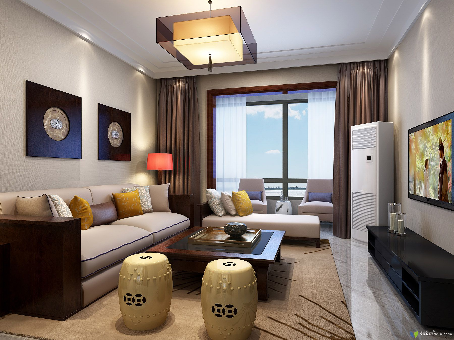 新中式客厅 大神帮忙看看 - 扮家家室内设计网