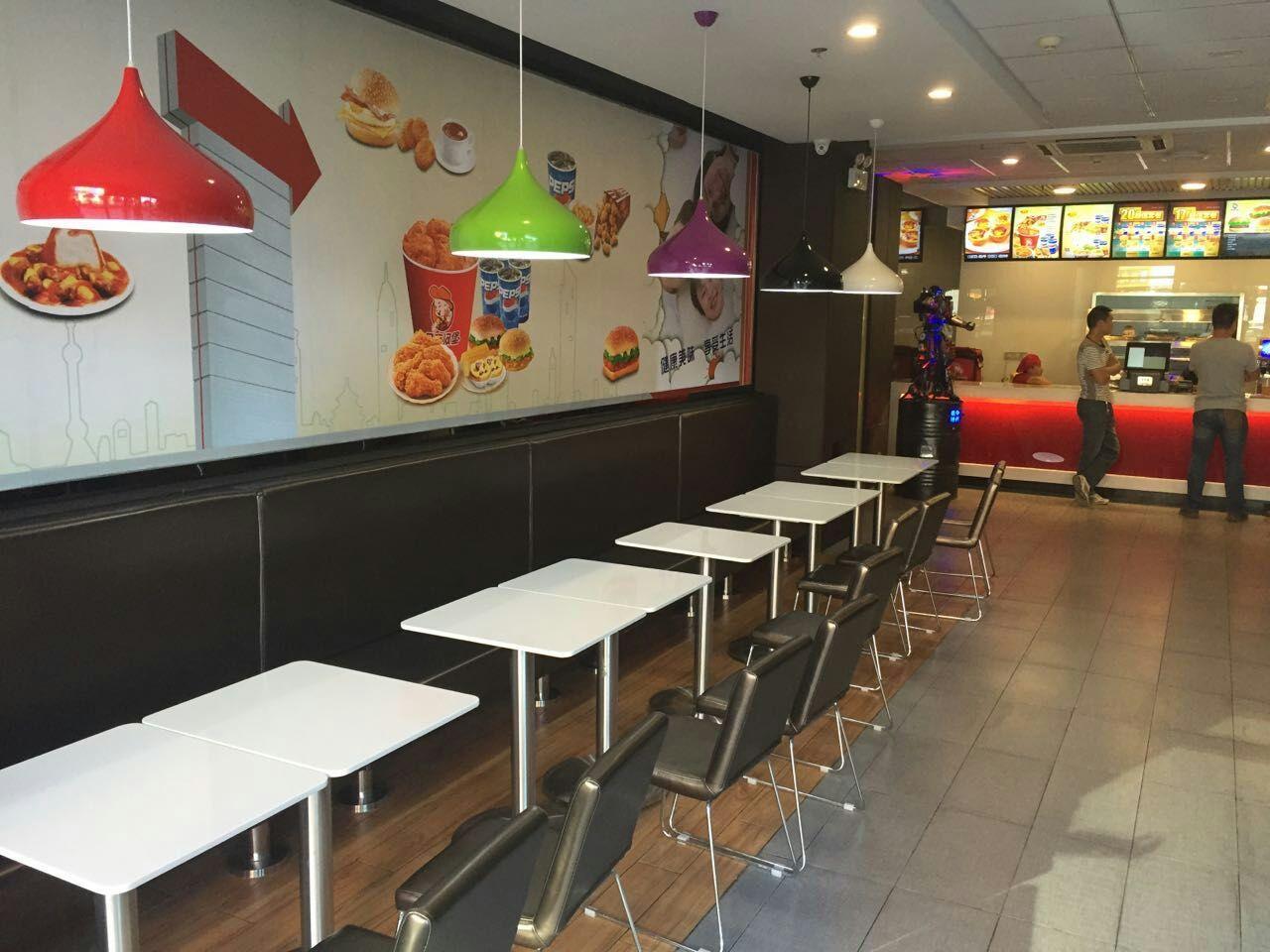 汉堡店面 装修实景图-室内设计师平台 -室内设计论坛