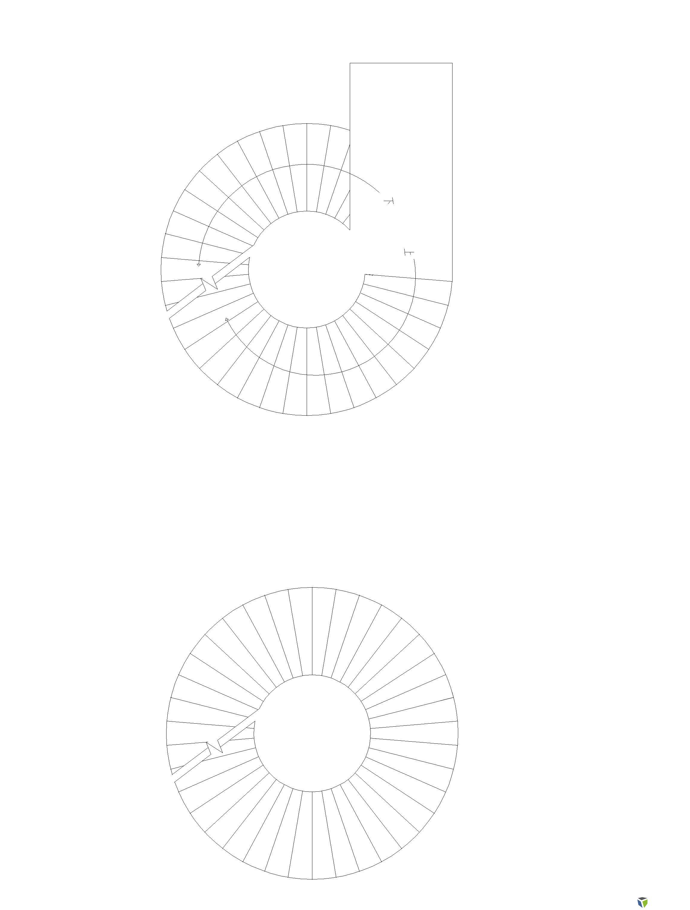旋转楼梯画法?