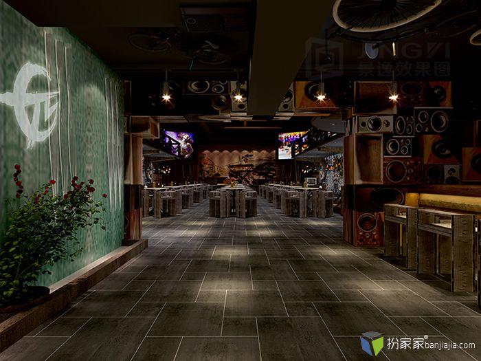 景逸效果圖 — 個性酒吧工裝設計