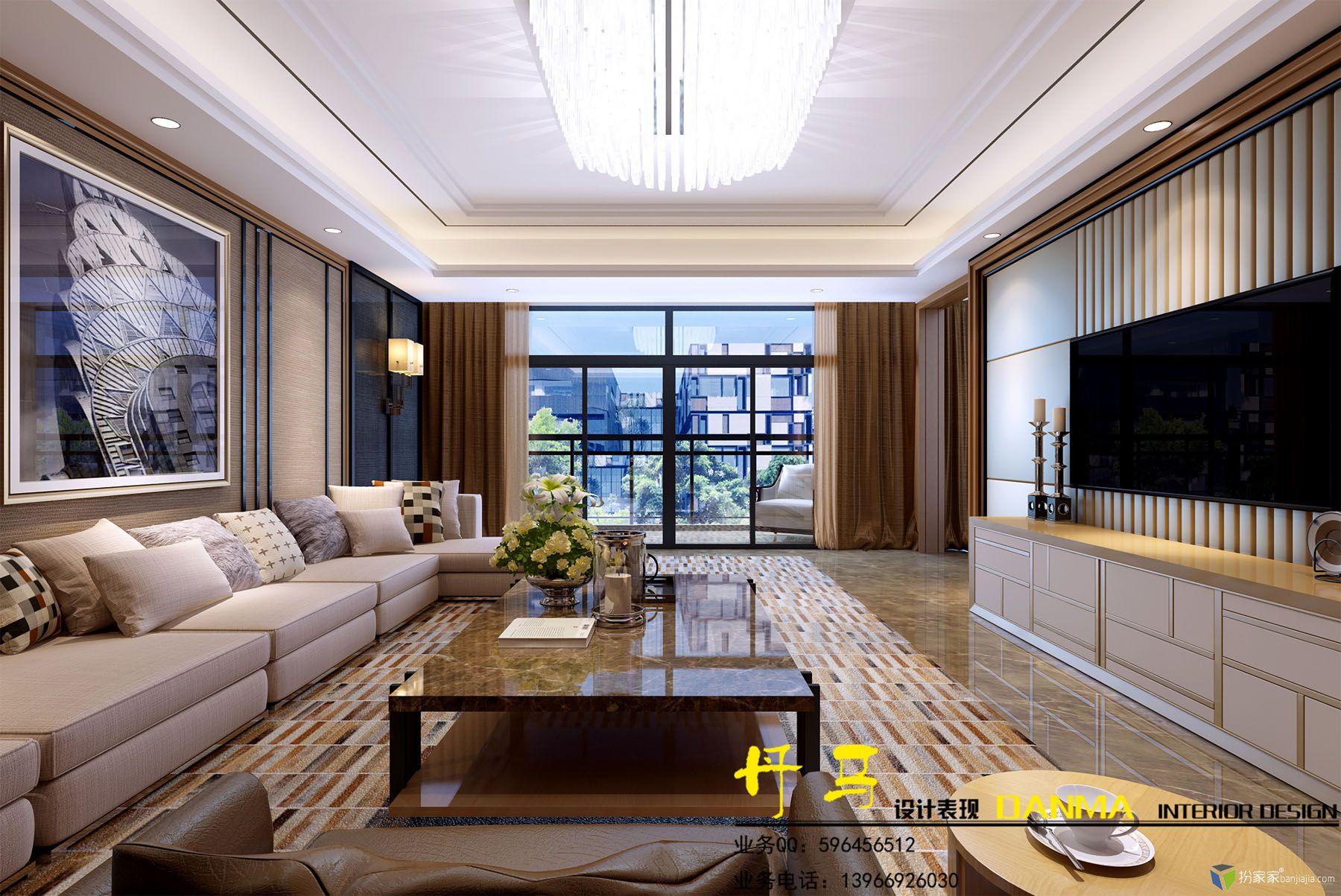 练习:梁志天客厅 - 扮家家室内设计网