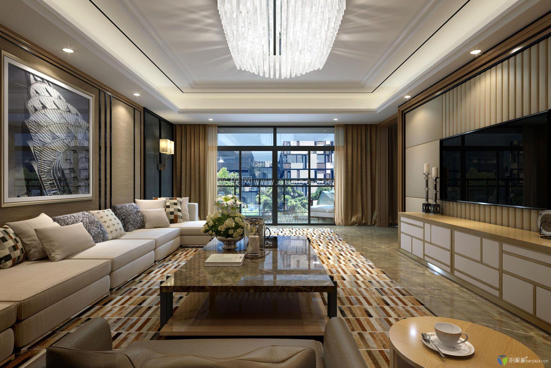 练习:梁志天客厅-室内设计师平台 -室内设计论坛-扮家