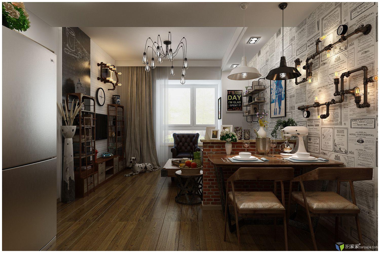 2016年,新年的第一刀设计方案,业主是一位93年的姓郝的单身小姑娘,研究过装修风格,自己一个人住的60平米的小公寓,要和普通的装修设计不一样,凸显自己的个性,有小资的品味和档次,又不想太过张扬,比较喜欢工业Loft风格,综合以上几点要求和因素,最终形成今天呈现的设计方案 我为这套设计想了一个名字 「当郝小姐邂逅洛夫特先生」 你看到的所有装饰用品和家具几乎95%能买到一模一样的进行搭配,就连墙上的壁灯和主灯都和设计毫无出路,真正达到前期设计与后期成品高度重合,由于是一位精明干练的年轻女孩,骨子里有点
