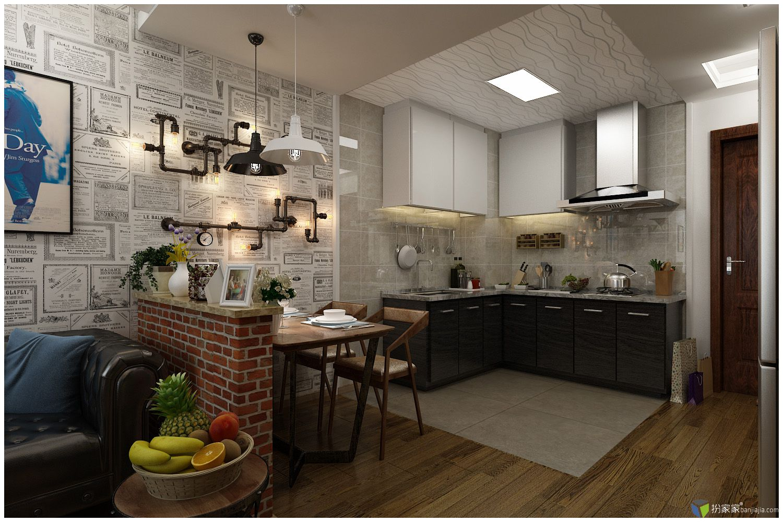 loft单身公寓设计方案 - 扮家家室内设计网