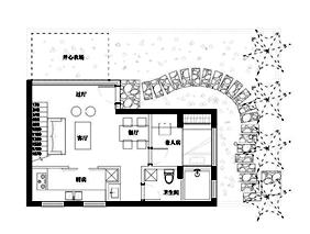 #户型优化#174平放复式带花园-【死火山】