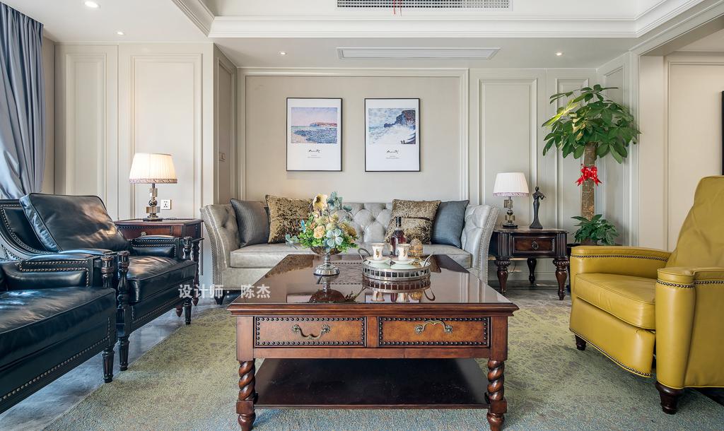 陈杰设计 | 140m2现代美式住宅 -室内设计师平台 --扮
