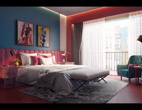15号作品:#效果表现#第2期-现代时尚卧室【YaDaI_XiaoY】