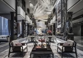 集艾设计 黄全作品 | 包头绿地国际花都售楼处 用高级灰演绎时尚东方书院