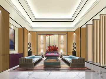 中式客厅-谢雄伟