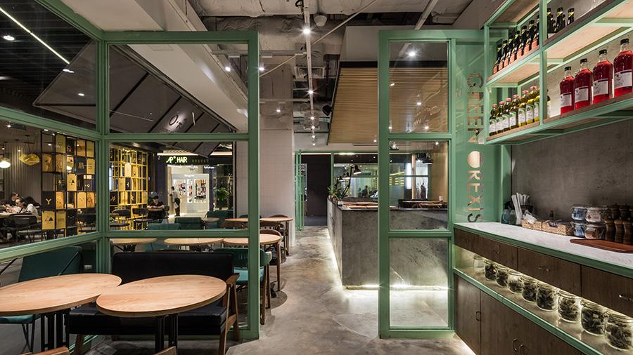 绿色健康 | G·O沙拉店空间设计