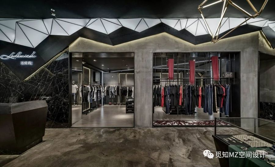 「酷黑工业风」高端购物空间设计欣赏