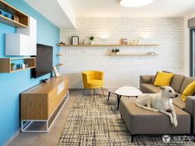 以色列:White Bricks – Blue Wall Apartment