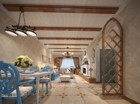 【3D效果图点评第7期】地中海客餐厅