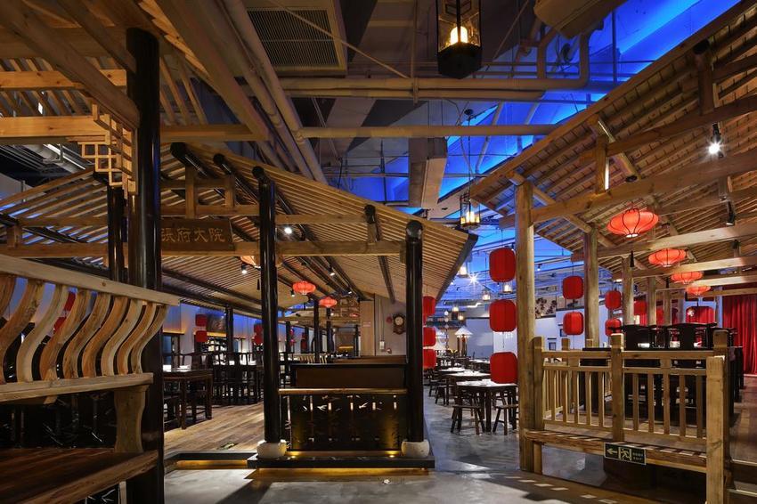 许建国 - 设计案例:徽宴楼大排档中餐厅设计