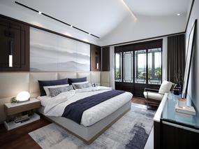 corona渲染表现-卧室