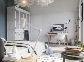 3dmax效果图儿童房设计