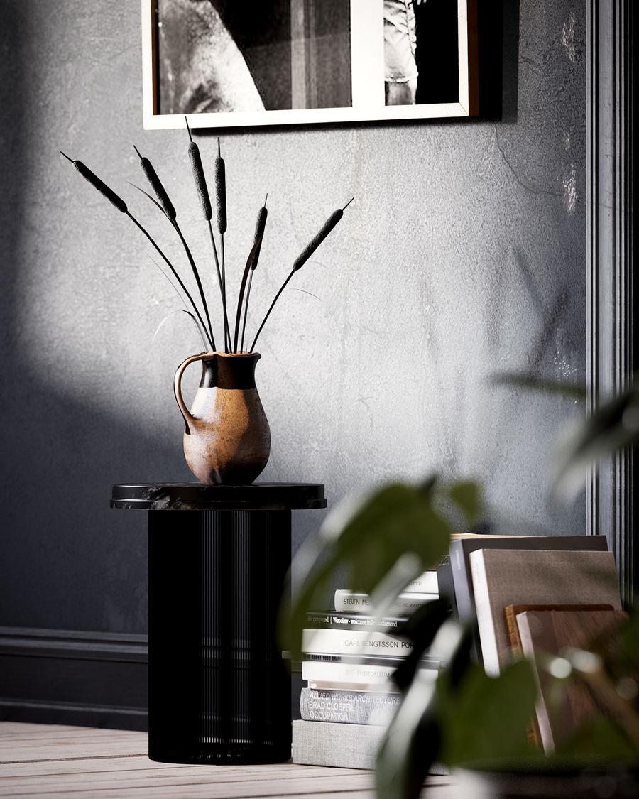 黑色和白色的室内表现