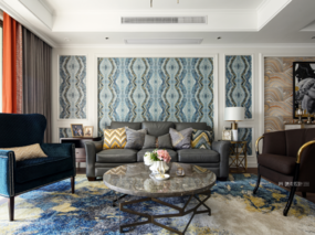 晓安设计|在美式色彩下,家的春暖与花开