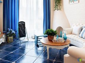 金石·香墅岭  清新地中海风格样板间   样板间设计  王凤波设计机构