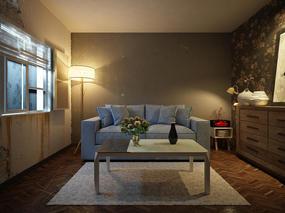 【3D效果图点评第43期】现代客厅&卧室