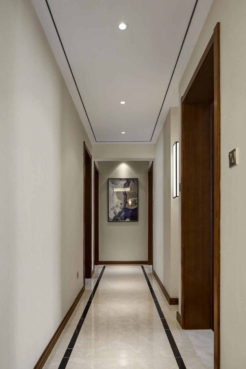 效果图 徐来/顶面和地面的线条采用中式传统的上下对称设计手法,遥相呼应,...
