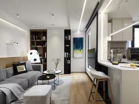 现代简约   静安老房爆改成时尚二居室