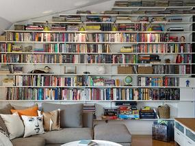 谁说北欧风格公寓不能充满书香?