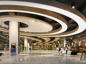 天霸设计塑造与众不同的购物中心装修效果图