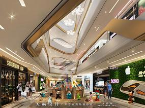 交互式动线设计商场设计效果图天霸设计2017新分享
