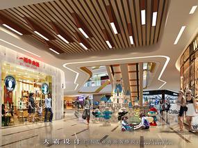 天霸设计购物中心装修效果图亮眼的设计风格分享