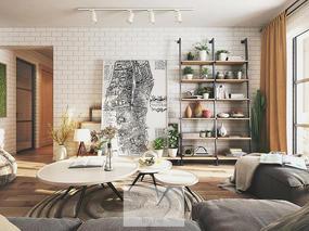 一个北欧风的客厅