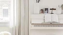 用音乐做软装   钢琴区的陈设