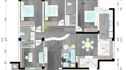 【户型优化第六期】152平米一家六口考虑盲人设计