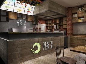 【3D效果图点评第21期】工业风餐饮空间