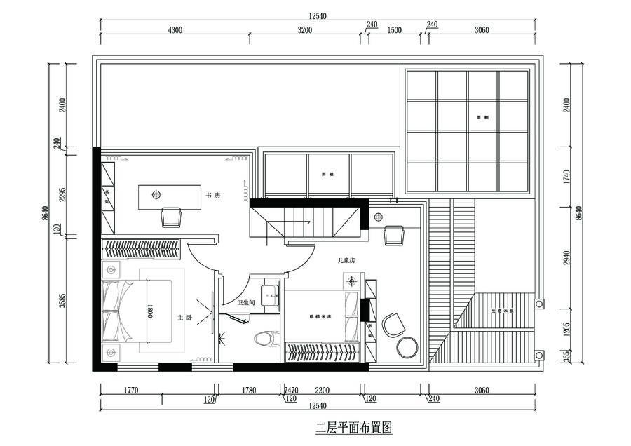 #户型优化#15号作品:174平方复式带花园【起风了】