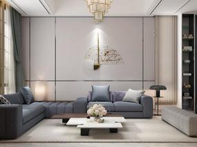 墅创国际设计 - 设计案例:简洁质感170平米居室